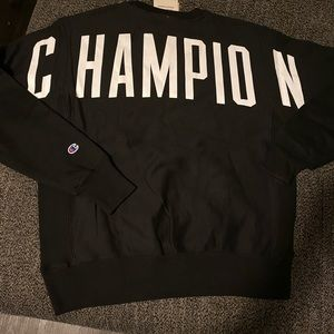 Champion men Crew neck sweater with Logo